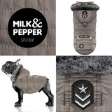 Milk and Pepper hondenjas Sputnik Taupe Bulldog & Mopshond_