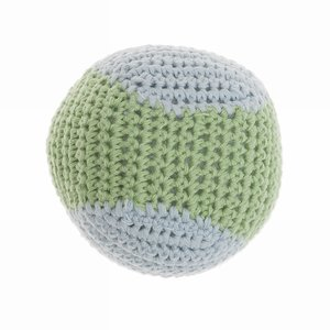 Crochet Baseball Dog toy apple/Cloud  - Mungo & Maud
